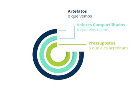 Artefatos, Valores e Pressupostos da cultura organizacional